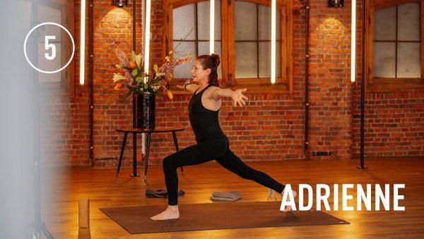 STAY FIT #5 | Adrienne's Vinyasa Flow Yoga class (15 MIN)